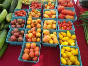 Chocolate and Tomatoes at Farm Market