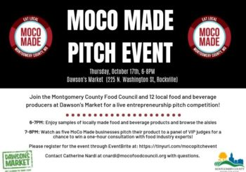 October 17, MoCo Made Pitch Event