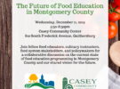 December 11, Future of Food Education in Montgomery County